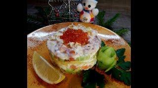 """Салат """"Искушение""""( вкусный, простой рецепт)/  Salad """"Temptation"""" (delicious, simple recipe)"""