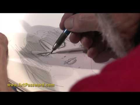 Esteban Maroto drawing Vampirella