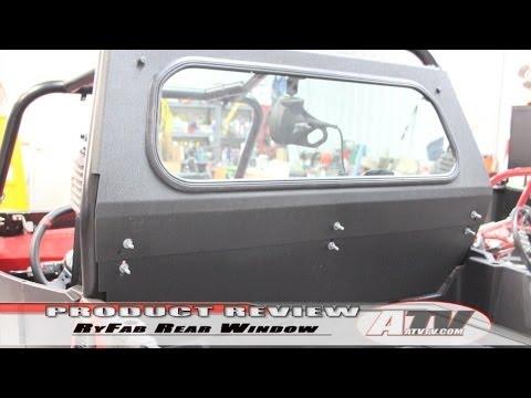 Atv Television Ryfab Polaris Rzr Glass Rear Window Youtube