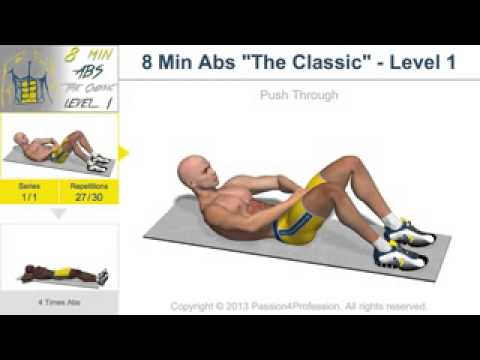 8 Min Abs  The Classic    Level 1   No Music