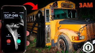 (SCP-049 FOUND!) CALLING SCP 049 ON FACETIME AT THE ABANDONED HAUNTED SCHOOL BUS AT 3AM (MUST WATCH)