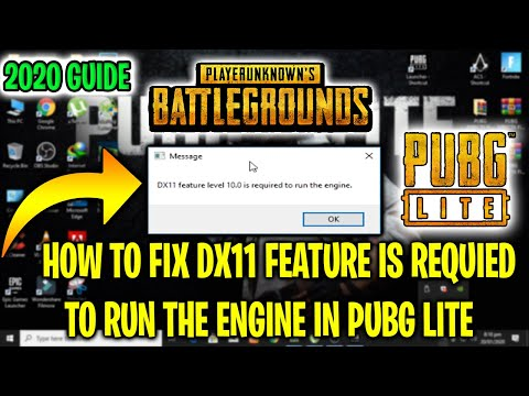 How To Fix DirectX 11 Error in PUBG LITE And How to Fix DX11 feature level 10.0 in PUBG LITE (2020)