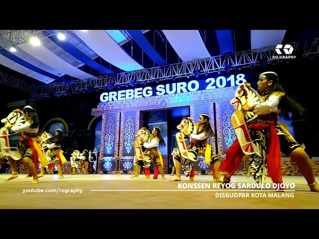Konssen Reyog Sardulo Djoyo DISBUDPAR Kota Malang - Festival Nasional Reyog Ponorogo XXV 2018