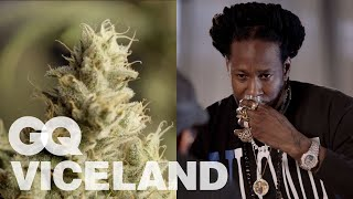 2 Chainz Taste Tests Expensive Weed | Most Expensivest | VICELAND & GQ