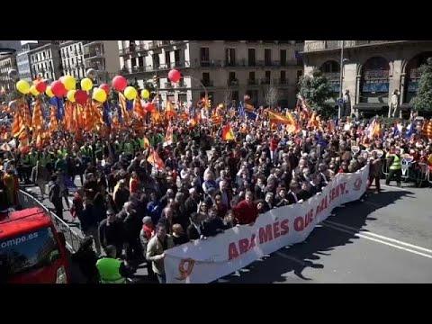 Marcha pela unidade em Barcelona