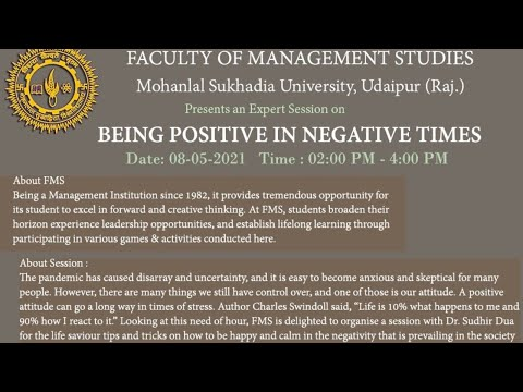 Being Positive in Negative Times