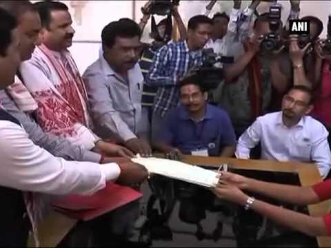 Assam CM Tarun Gogoi files nomination from Titabar