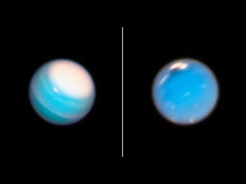 Реальные фото дальних планет. Вот так выглядят Уран и Нептун на самом деле. Фото с телескопа Хаббл.