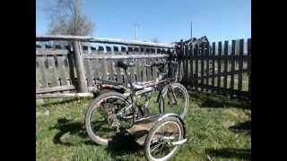 Motor Vernor XC - горный велосипед с мотором от бензопилы(Motor Vernor XC - горный велосипед с мотором от бензопилы Homelite CSP3314 и боковым прицепом... другие подробности на сайт..., 2013-05-19T16:23:55.000Z)