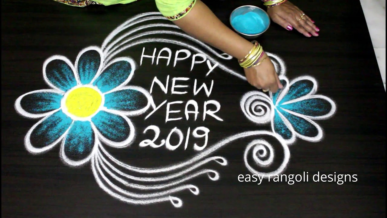 Happy New Year Rangoli Design Gallery 60
