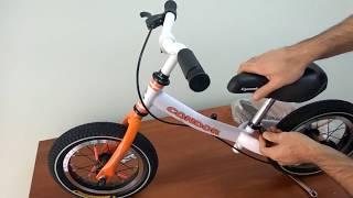видео Беговел Slider - с надувными колесами