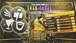 NBA 2K20 SHAQUILLE O'NEAL BUILD, 48 BADGES! THE BEST DEMI GOD CENTER BUILD!