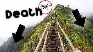 Dangerous illegal hike - Haiku stairs / Stairway to heaven + DRONE