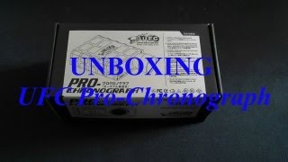 unboxing et review du chronographe de chez UFC