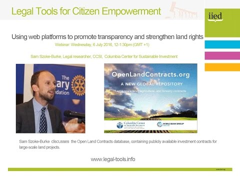 Legal tools for citizen empowerment: Open Land Contracts database