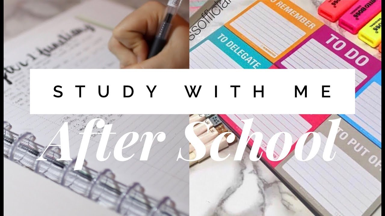 STUDY WITH ME | Productive After School Study Session - YouTube