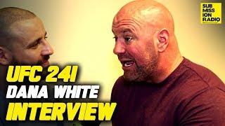 UFC 241: Dana White Reacts to Nate Diaz Smoking Joint, Talks UFC 243, Cormier vs. Miocic, More!