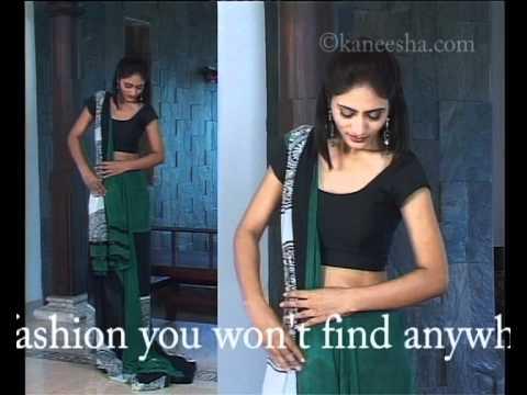How To Wear Sari - Indian Drape / Dupatta Style Saree Wearing Technique