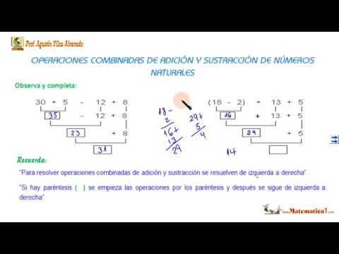OPERACIONES COMBINADAS DE SUMA Y RESTA Lógico Matemáticas