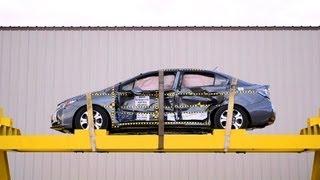 2013 Honda Civic Hybrid Sedan | Pre/Post-Test Documentation, Side Crash Test by NHTSA | CrashNet1