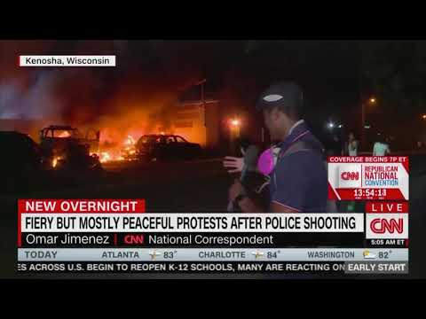 CNN: Fiery But Mostly Peaceful Protests After Police Shooting