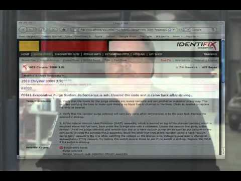 identifix chrysler check engine light  p youtube