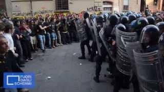 Bologna, scontri in Piazza Verdi 27Maggio2013