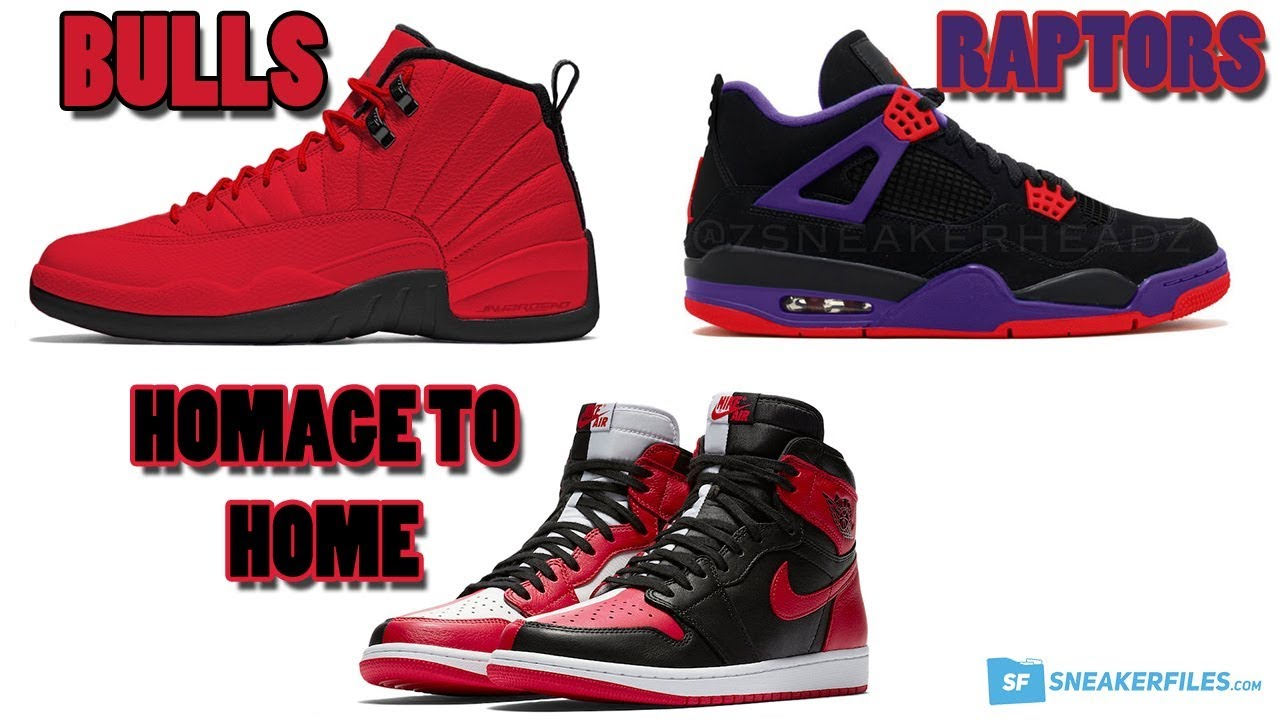 size 40 01449 bc1e3 AIR JORDAN 12 BULLS, JORDAN 4 RAPTORS, JORDAN 1 HOMAGE TO HOME AND MORE