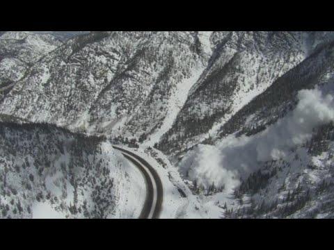 Officials trigger avalanche in Colorado mountains