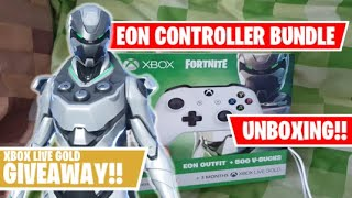 FORTNITE EON CONTROLLER BUNDLE UNBOXING - XBOX LIVE GOLD GIVEAWAY!