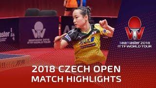 Mima Ito vs Zhang Rui | 2018 Czech Open Highlights (R32)