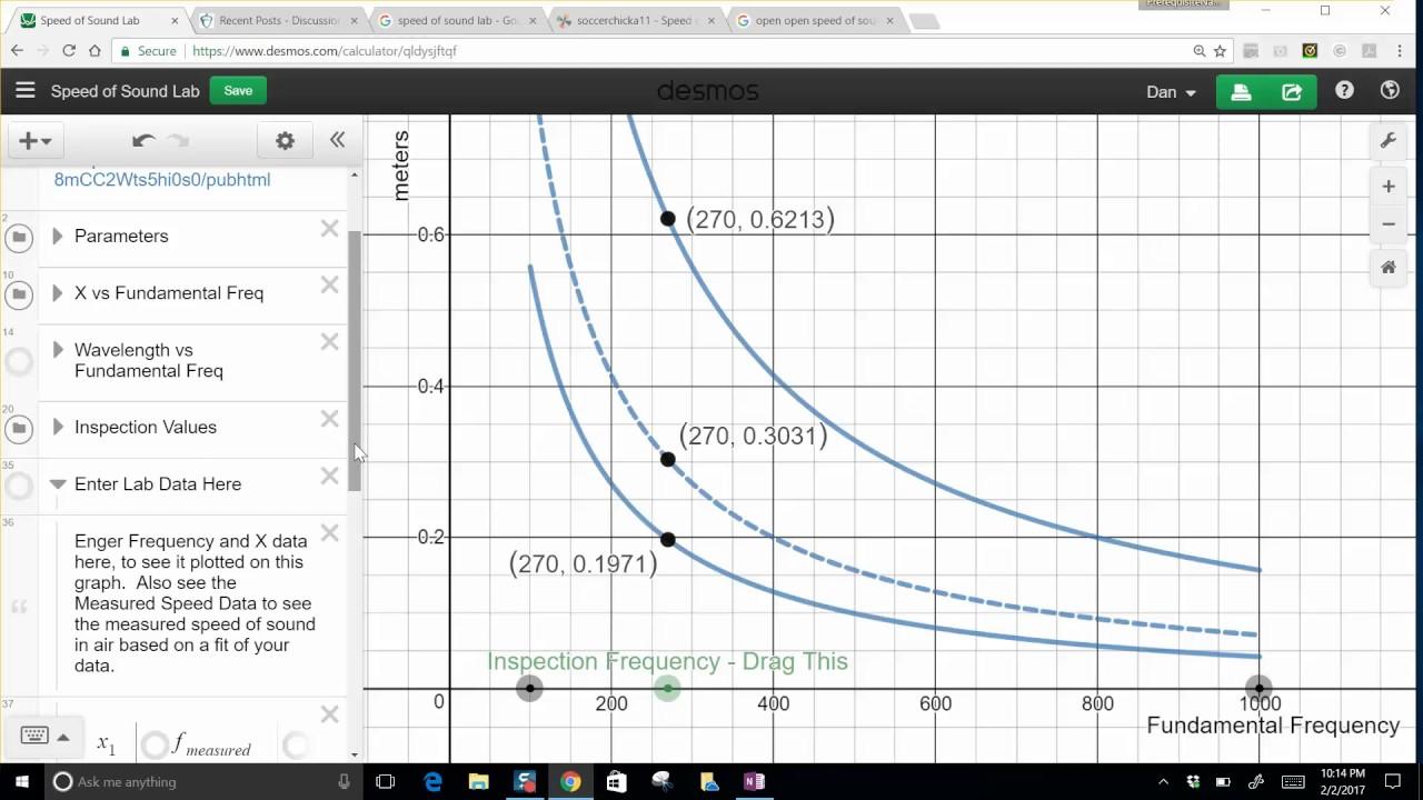 Speed of sound lab report