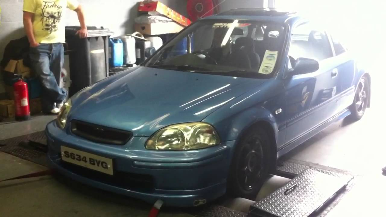 EK4 Honda Civic VTi-S VTEC Rolling Road / Dyno not ek9 type r ep3 dc2 dc5 VTI - YouTube