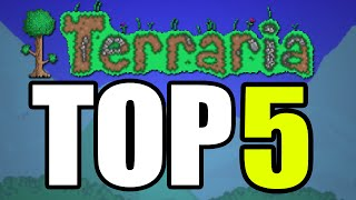 Top 5 Moments In Terraria History - The Luckiest Moments EVER In Terraria! [PC / Xbox]
