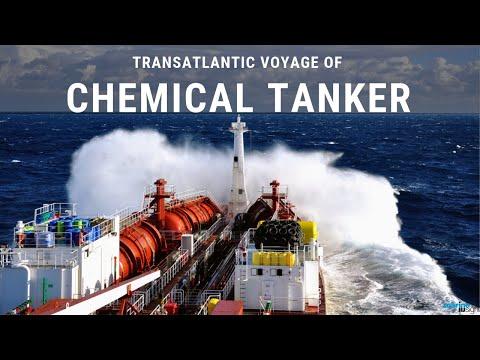 Timelapse: Transatlantic Voyage of Chemical Tanker