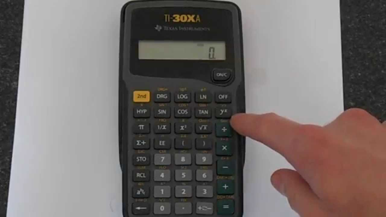 TI-30Xa: Exponents (Powers) and Exponentials - YouTube