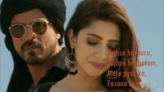 Zaalima  Raees  Video Lyrics  Shah Rukh Khan & Mahira Khan