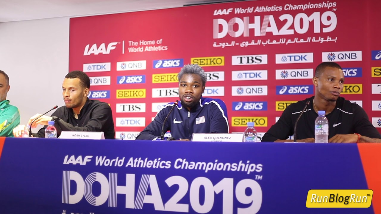 Doha WC 2019 - Men's 200m Final Press Conference
