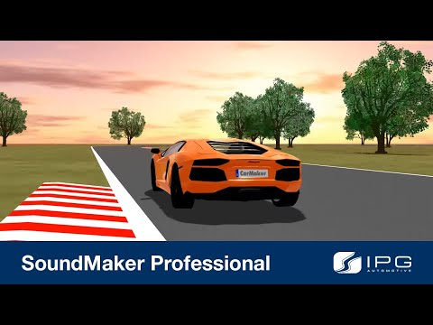 CarMaker running with SoundMaker Professional
