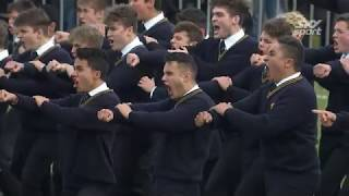 THIS IS WHY NEW ZEALAND RUGBY IS SO STRONG: King's College v Auckland Grammar Haka 2018 | SKY TV