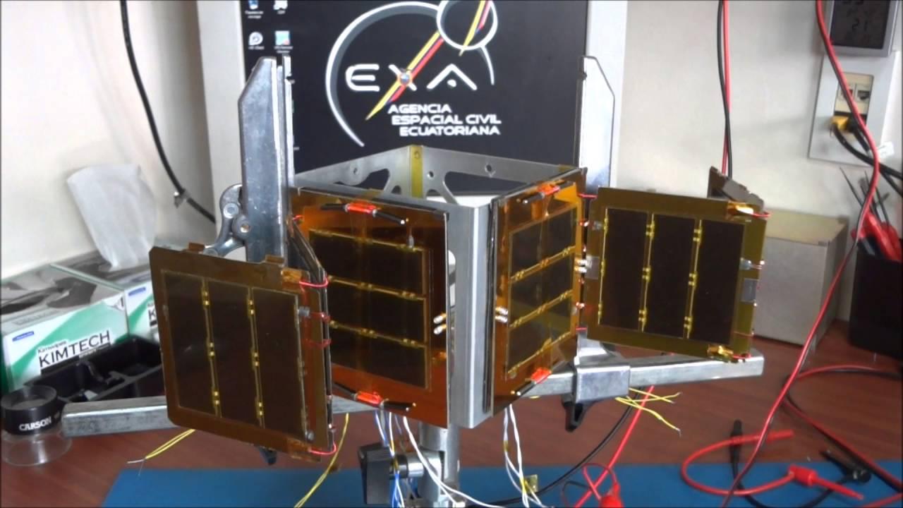 1u Cubesat Deployable Solar Array Compliance Test Youtube
