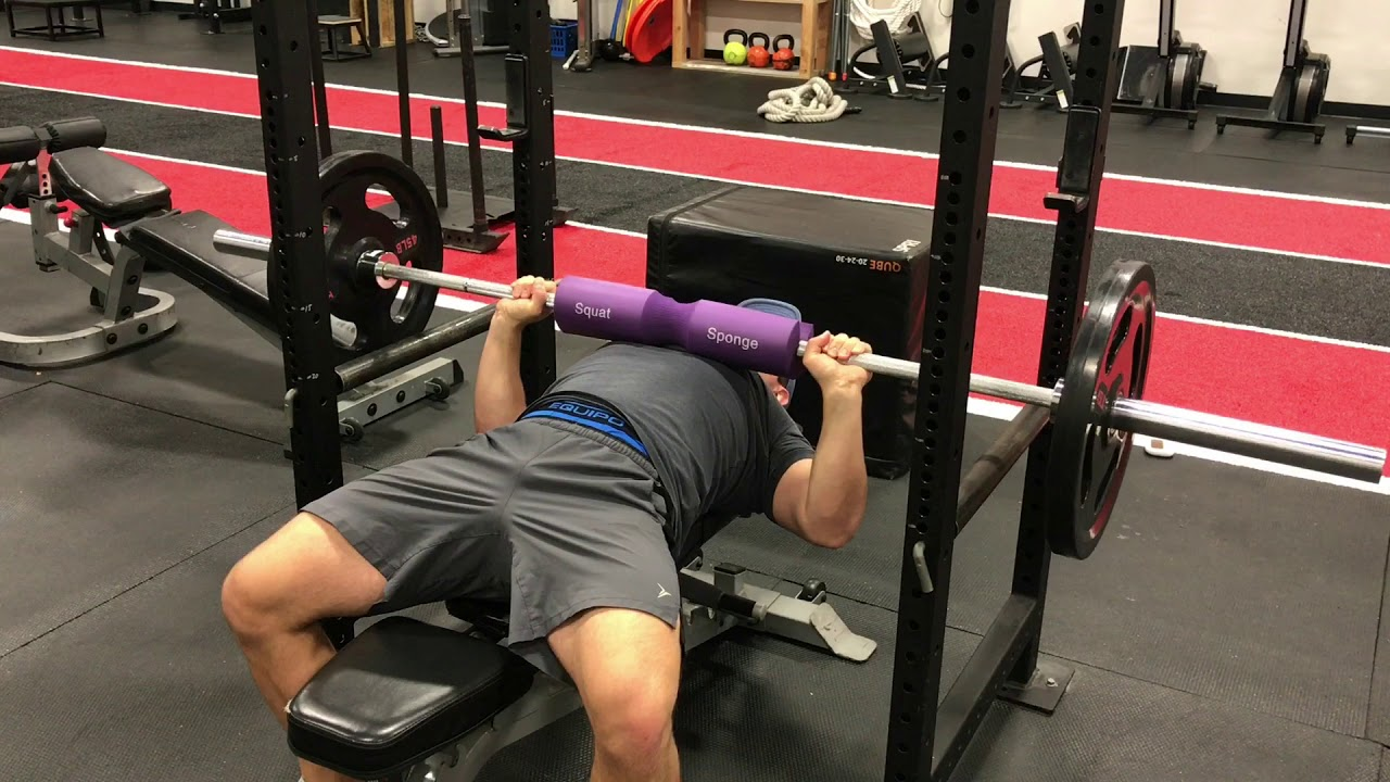 Bb Bench Press With Pad Youtube
