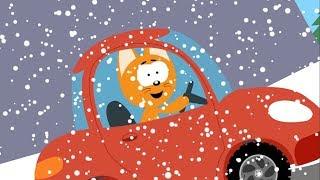 Мультфильм про машинки – Котенок и волшебный гараж – Ледяная гора - Для самых маленьких