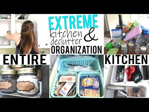 DECLUTTER & ORGANIZE WITH ME | KITCHEN DEEP CLEAN AND DECLUTTER