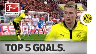 Marco reus - top 5 goals - borussia dortmund