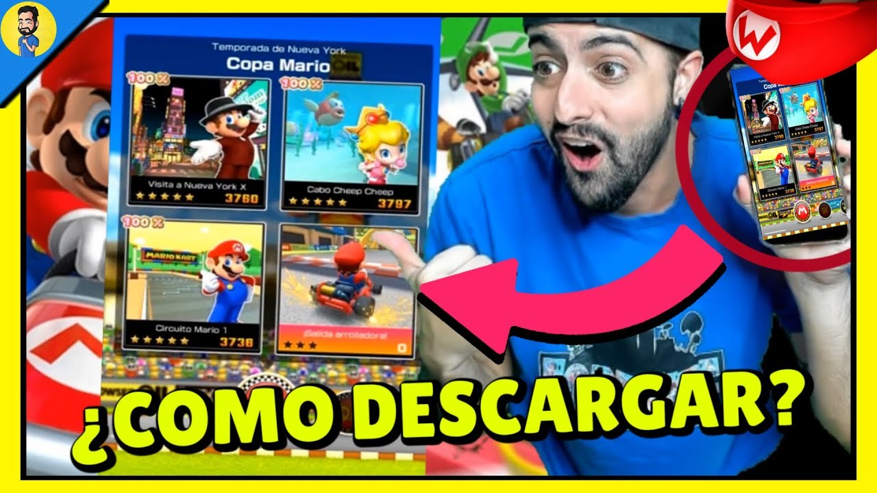 COMO DESCARGAR MARIO KART TOUR iOs Y Android …
