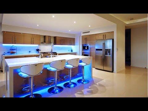 30 Wonderful Modern Kitchen LED Lighting Ideas 2017, Ultra ...