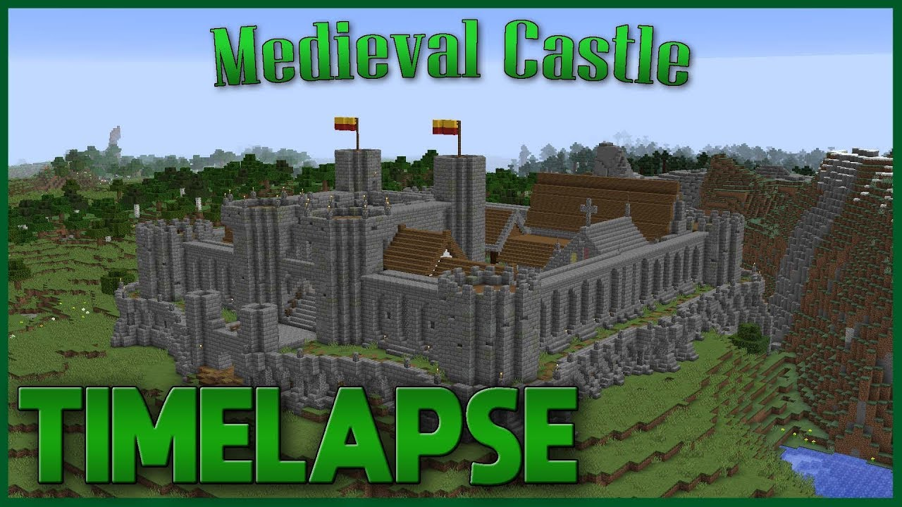 Medieval Castle Minecraft Timelapse Youtube