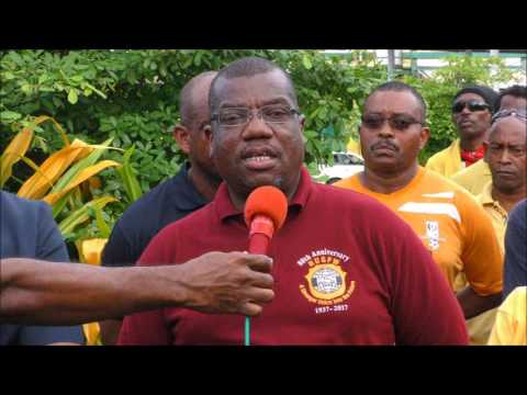 JTUM, NATUC, FITUN protest in Point Fortin 25,07,2017 in preparation for mass demonstration on Augus