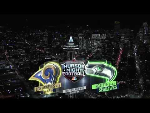 NBC Thursday Night Football intro 2016 LA@SEA